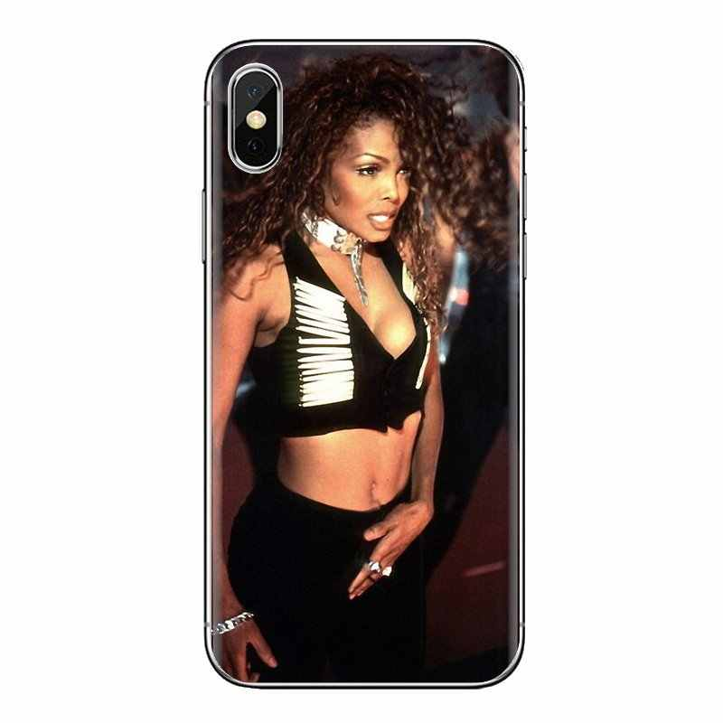 Силиконовый чехол для телефона просто красивый Janet Jackson для LG Spirit Motorola Moto X4 E4 E5 G5 G5S G6 Z Z2 Z3 G2 G3 C Play Plus Mini