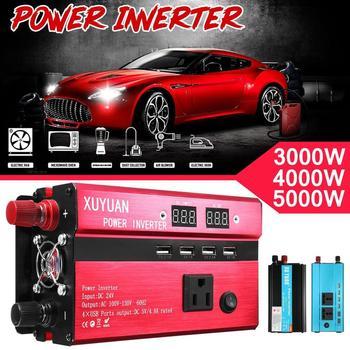 3000W Портативный автомобильный Солнечный Мощность преобразователь частоты постоянного тока в переменный ток преобразователя 12 V 110 V Напряже...