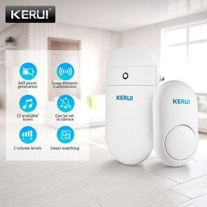 Image 1 - KERUI M518 ev karşılama zili kapı zili kablosuz akıllı halka kapı zili kendi kendine nesil hiçbir pil düğmesi 52 şarkılar isteğe bağlı