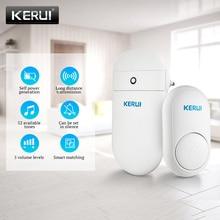 Дверной звонок KERUI M518, беспроводной смарт звонок, самопоколение, без батареи, кнопки, 52 Песни на выбор
