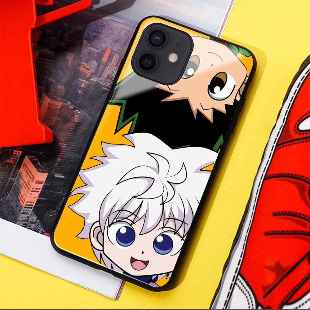Cute Killua Zoldyck Gon·Freecss Hunter X Hunter Glass case for iphone 11 12 mini PRO MAX SE 2020 6 6s 7 8 Plus X XR XS max cover|Phone Case & Covers| - AliExpress