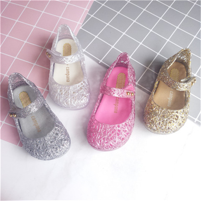 Mini Melissa Ultragirl Princess Girl Jelly Shoes Sandals 2020 NEW Baby Shoes Soft Melissa Sandals For Kids Non-slip