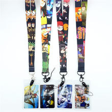 Japan Anime NARUTO Strap Lanyards for keys ID Card Gym Mobile Phone Strap USB Badge Holder Rope Cute Key Chain Cosplay Gift New(China)