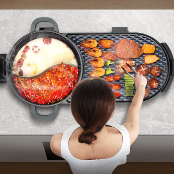 Electric oven, smoke-free home, multifunctional indoor chafing dish, roast fish barbecue, electric roasting dish, roasting.