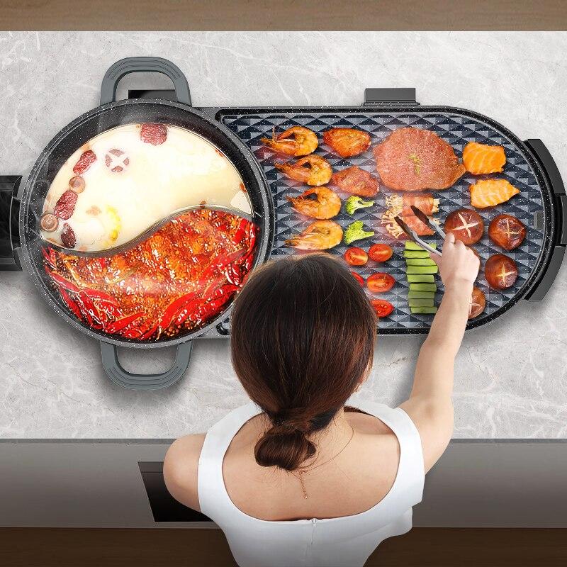 Four électrique | Plat multifonctionnel d'intérieur, barbecue de poisson rôti, plat à rôtir électrique, pour la maison sans fumée