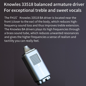 Image 3 - FiiO FH1s היי Res 1BA + 1DD (נואלס 33518,13.6mm דינמי) ב אוזן אוזניות IEM עם 2pin/0.78mm נתיק כבל פופולרי מוסיקה