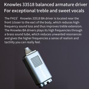 Image 3 - Fiio FH1s Hi Res 1BA + 1DD(Knowles 33518,13.6 Mm Dynamische) In Ear Oortelefoon Iem Met 2pin/0.78 Mm Afneembare Kabel Voor Populaire Muziek