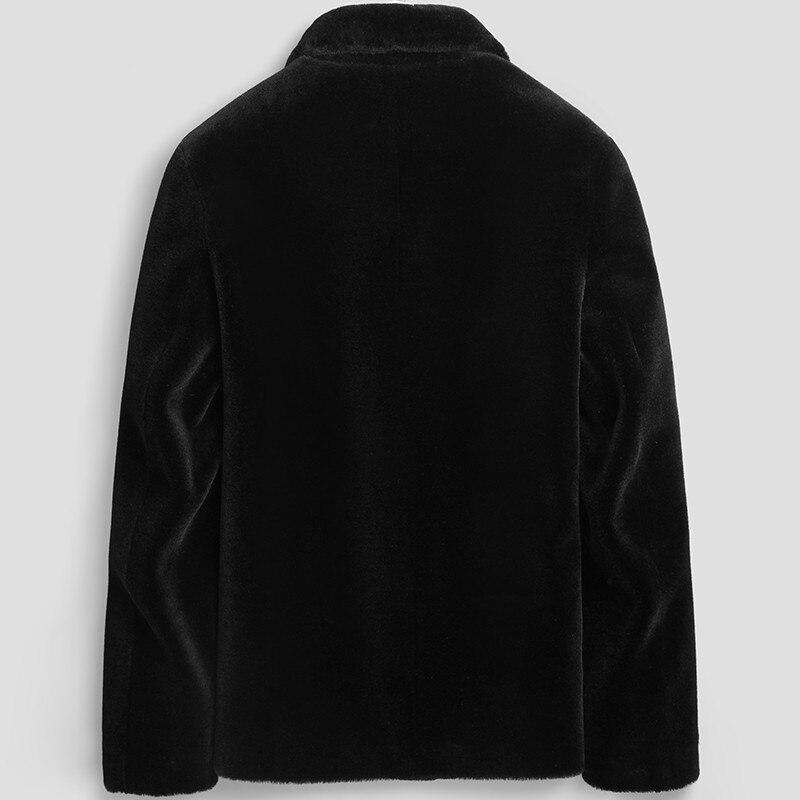 100% Wool Coat Real Sheep Shearling Fur Coat Streetwear Winter Jacket Men Autumn Mens Jackets And Coat LSY080173 MY1140