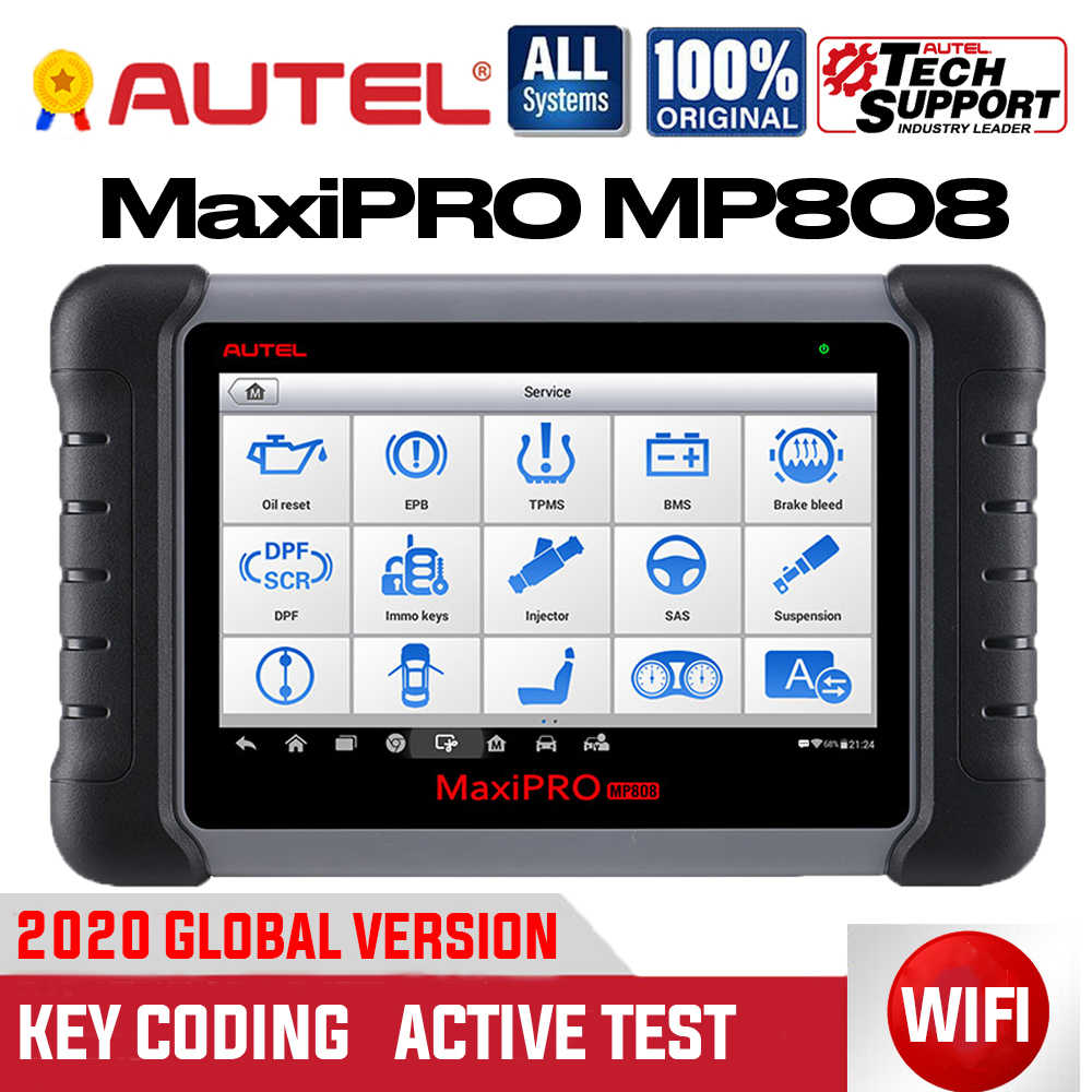 Autel Maxipro MP808 OBD2 Scanner Diagnostic Tool Bi-Directionele Controle Obdii Automotive Toolskey Codering Pk Maxidas DS808 MS906