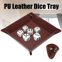 High Quality Dice PU Leather Valet Trinket Folding Tray Collapsible Phone Key Wallet Coin Desktop Storage Sundries Box Bins