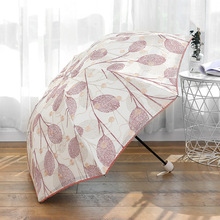 Kocotree Full Blackout Color Flash Lace Umbrella Rain Women Fashion Arched Princess Umbrellas Female Parasol Creative Gift