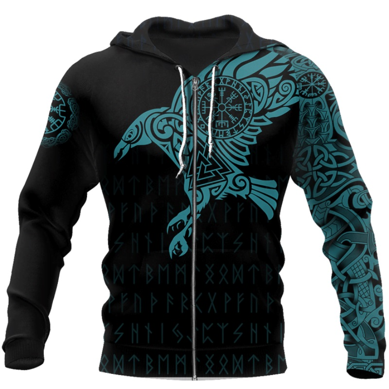 The Raven of Odin Viking 3D Printed Hoodie 10