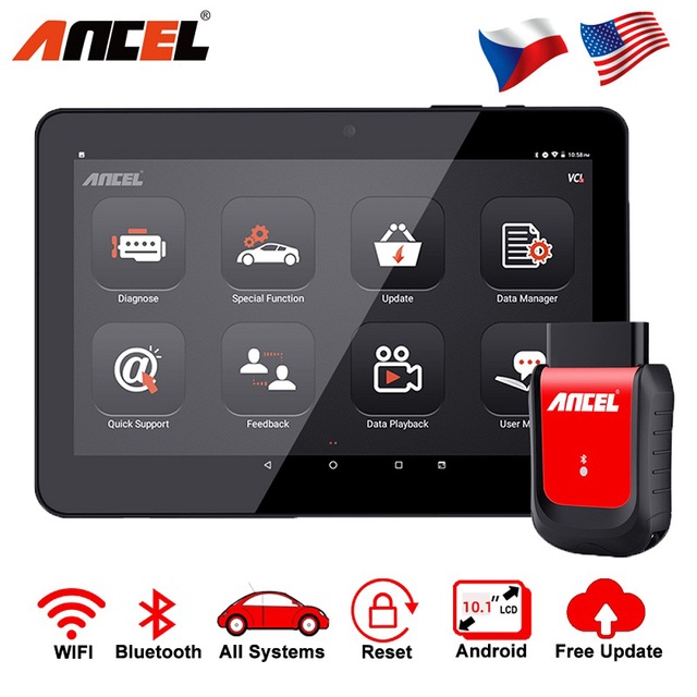 Ancel x6 Bluetooth OBD2 Scanner ABS Airbag Oil EPB DPF Reset Professional OBD2 Automotive Scanner Free Update Car Diagnose Tool