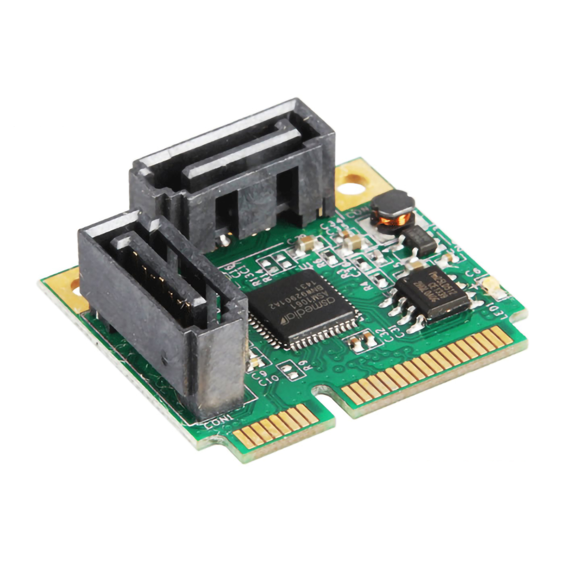 Add On Cards Mini PCI-E PCI Express To 2 Ports SATA 3.0 Converter Hard Drive Extension SATA3 Controller Card HUB Multiplier