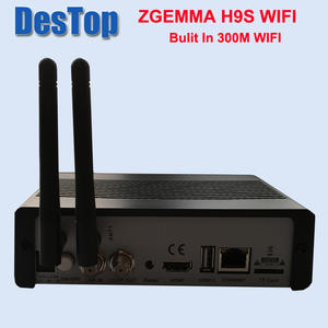 Satellite Receiver IPTV DVB-S2X ZGEMMA Single-Tuner 300m-Wifi T2-MI 20pcs Bulit CI H9S
