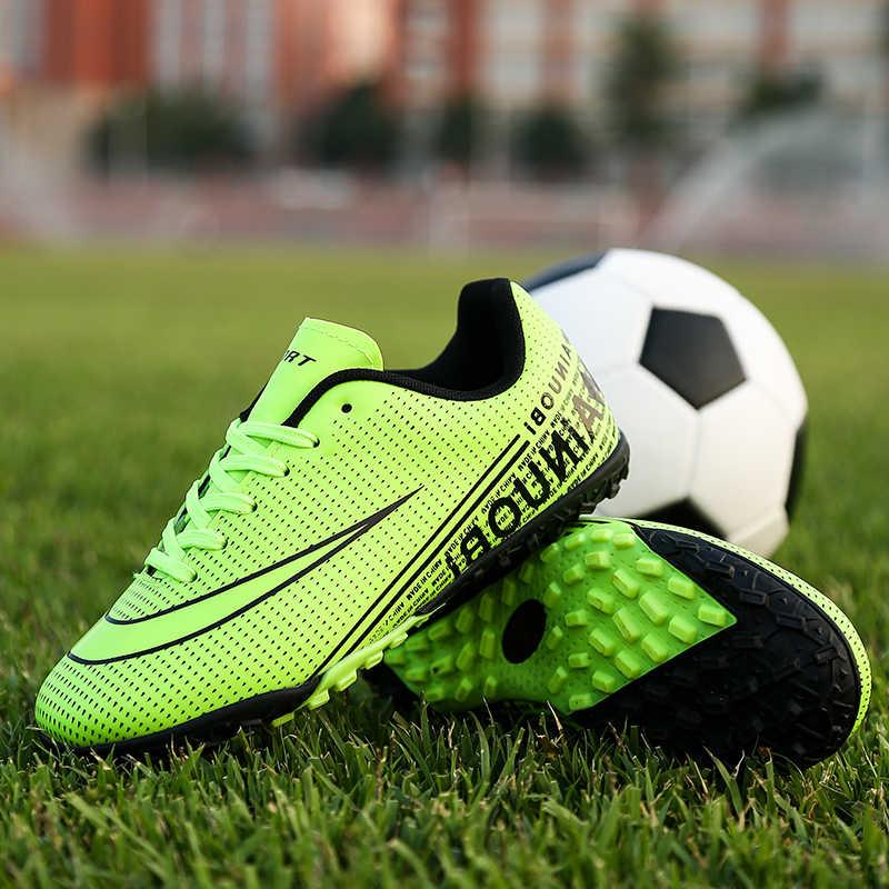 Futbol ayakkabıları erkekler için çocuklar kapalı futbol ayakkabısı sneakers çim superfly futsal orijinal futbol kramponları rahat su geçirmez
