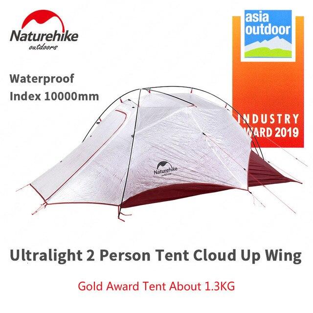 Naturehike 新到着クラウドアップ Cuben 繊維 2 人のキャンプのテント超軽量 15D ProfssIonal アジア屋外金賞テント NH