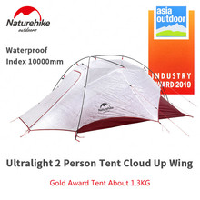 Naturehike New Arrive Cloud Up Wing Cuben Fiber 2 Person Camping Tent Ultralight 15D ProfssIonal Asia Outdoor Gold Award Tent NH