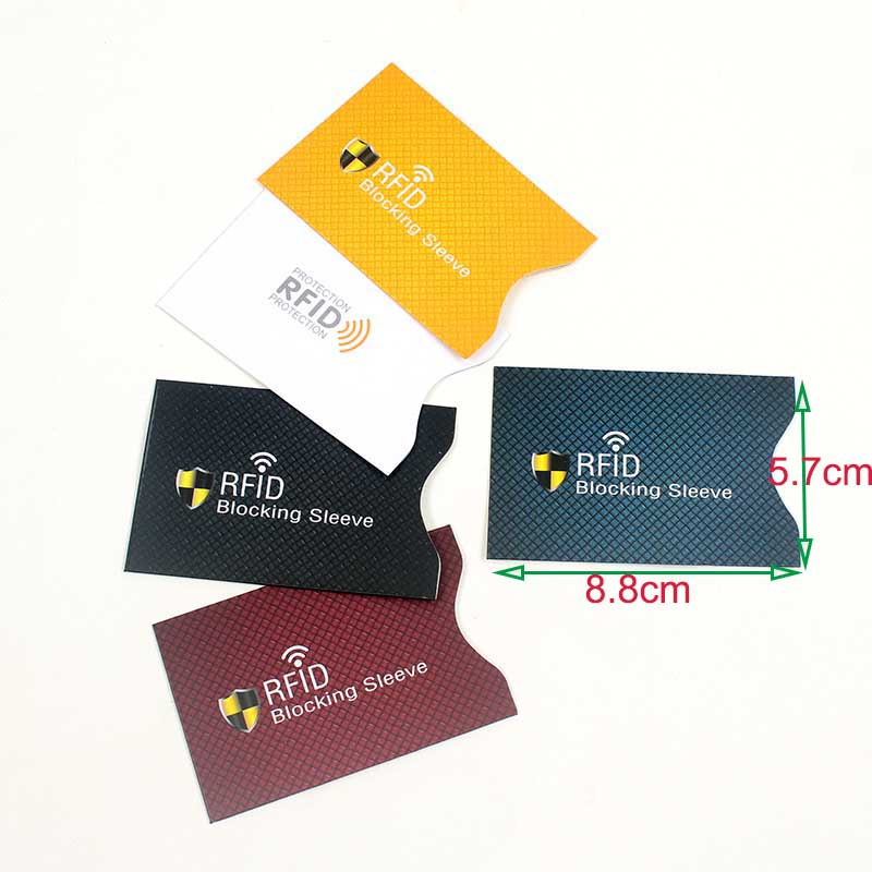 5pcs/Lot Aluminum Foil Anti Rfid Wallet Blocking Reader Lock Bank Card Holder Id Case Protection Metal Credit Card Holder