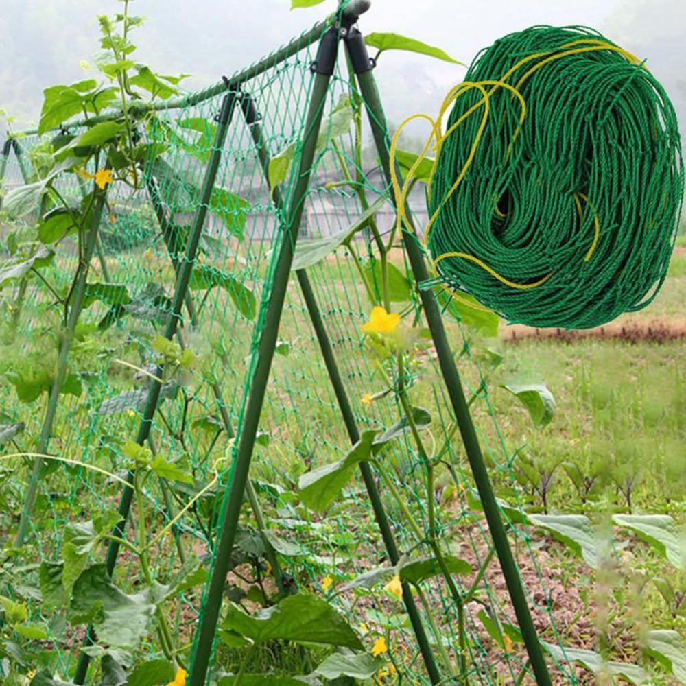 Garden Green Nylon Vegetable Plant Trellis Netting Support Nets Bean Plant Climbing Grow Fence Anti-bird Net