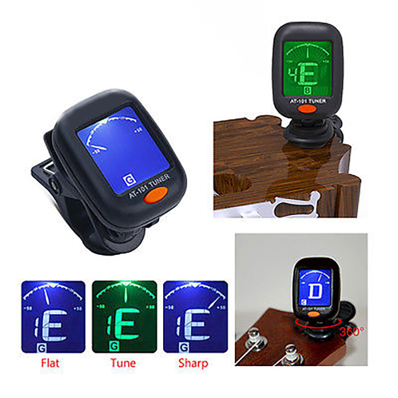 Black Capo Tuner Backlight Clip Durable Tuner Bass Automatic Sound Correction Metronome Ukulele Tool Band Violin Guitar