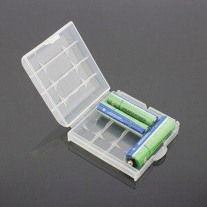 Image 3 - 4PCS פלסטיק קשיח מקרה מחזיק תיבת אחסון כיסוי עבור נטענת AA AAA סוללה מקרה 14500 10440 סוללה מיכל