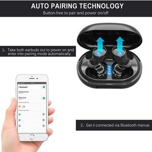 Image 2 - אמיתי אלחוטי Bluetooth אוזניות IPX8 עמיד למים אלחוטי Bluetooth אוזניות אוטומטי זיווג HD קול אוזניות 3500mAh תשלום תיבה