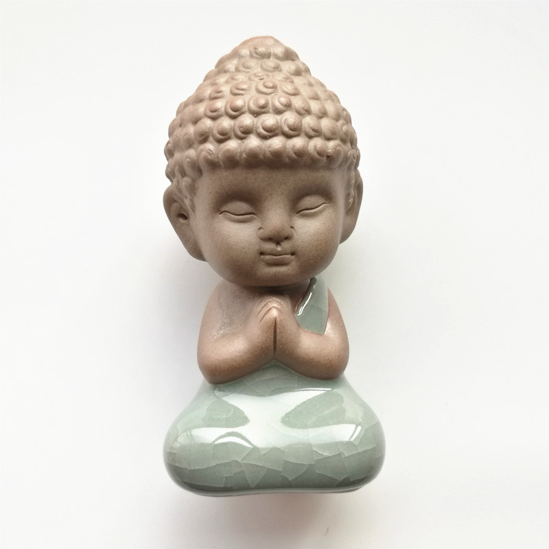 Buddha statues tea font b pet b font ornaments boutique decoration Buddhism monk buddhist home decor