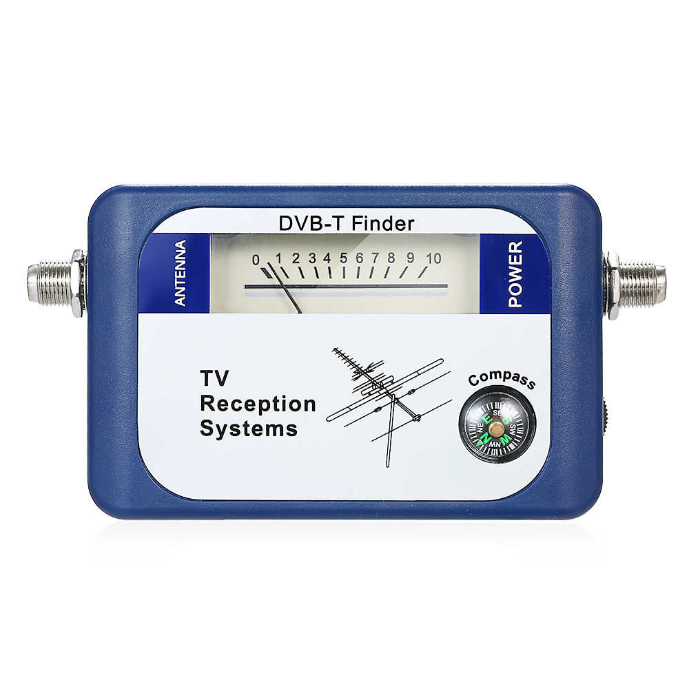 DVB-T Tv-antenne Finder Digitale Antenne Terrestrial Signaal Sterkte Meter Pointer TV Satellietontvanger met Kompas Power Kabel