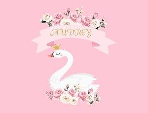 Image 2 - Birthday Photos Background Pink Flower Swan Backdrop Background for Photo Studio Photophone Photozone Background for Camera
