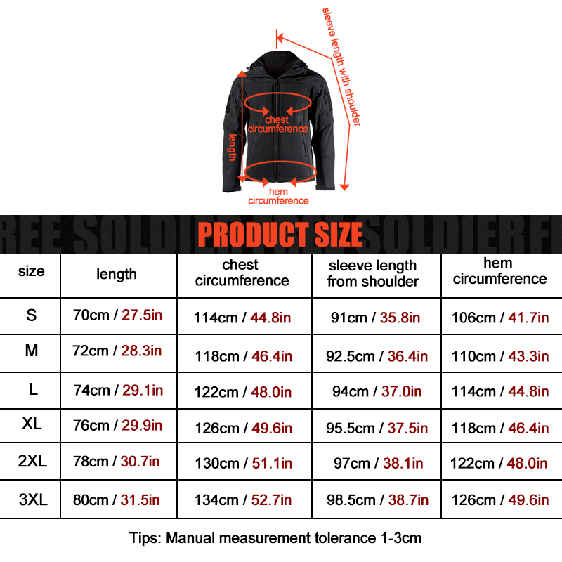 Image 5 - FREE SOLDIER Outdoor sports camping hiking tactical military  mens soft shell jacket wind warm water resistant coat travel  clothjacket navyjacket windbreakercamping tent 10 person