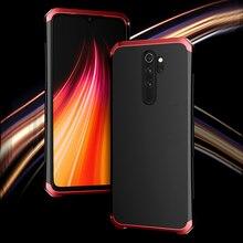 ケース Xiaomi Redmi 注 8 プロアルミニウム金属フレームハードプラスチックバックカバー Xiaomi Redmi 注 8 プロ fundas 完璧な感