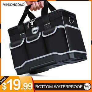 """Image 1 - أكياس أداة متعددة المهام حجم 13 """"16"""" 18 """"20"""" أكسفورد حقيبة ملابس أعلى واسعة الفم كهربائي مجموعة أدوات خاصة أكياس مجموعة أدوات مقاوم للماء"""