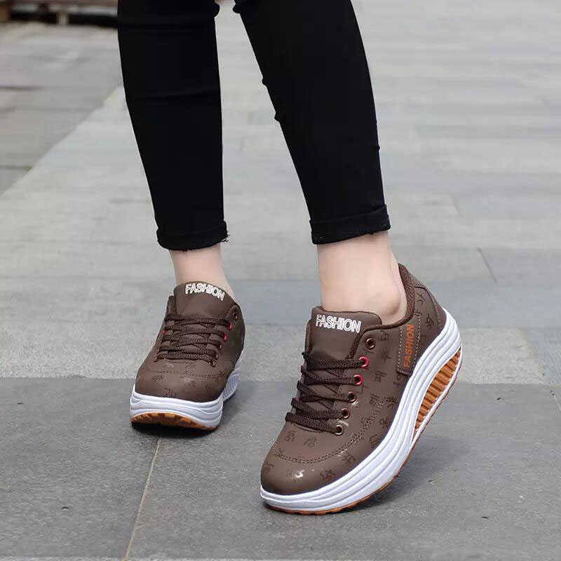2020 Spring New Women Platform Rocking Shoes Casual Fashionable Womens Chunky Designer Sneakers Zapatillas Con Plataforma Mujer 9