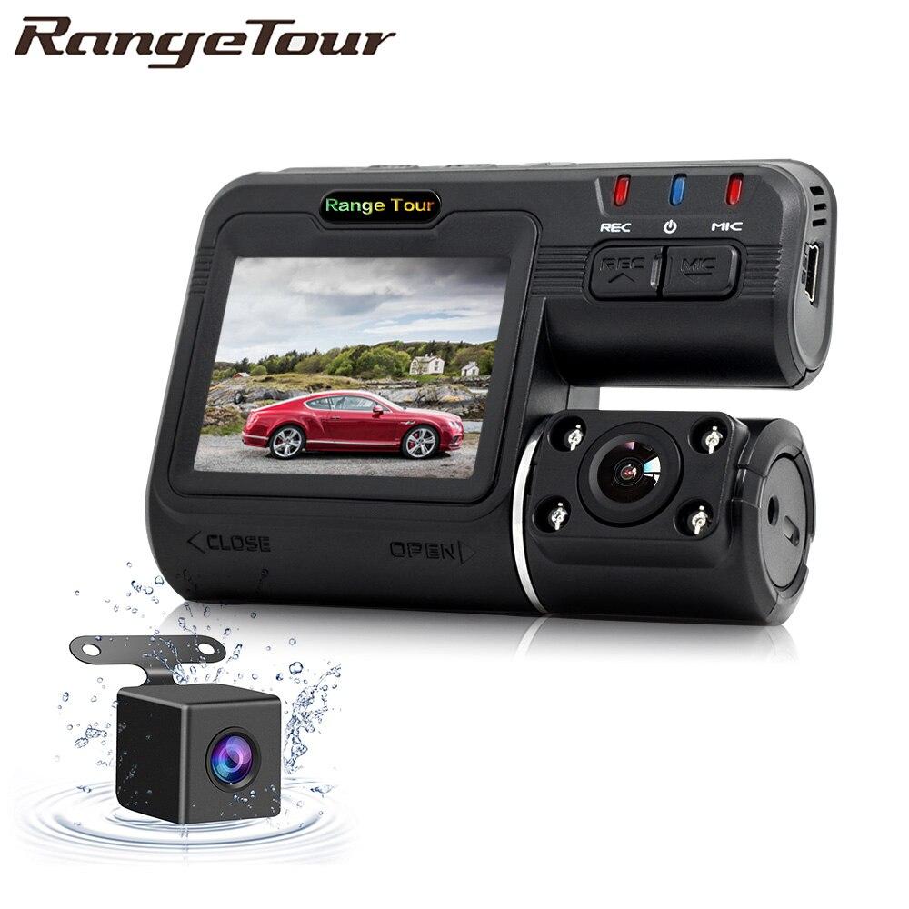 Двойная камера DVR i1000 Full HD 1080P, видеорегистратор с двумя объективами, видеорегистратор с 2 камерами ночного видения, Автомобильный видеорегис...