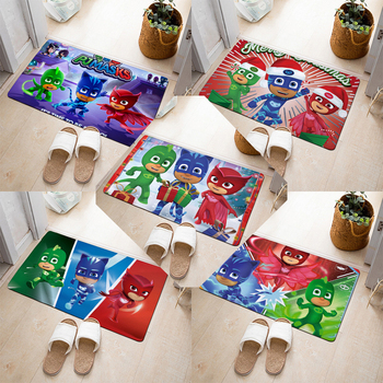 Original PJ MASKS 40 * 60cm Cartoon Anime Flannel 3D Carpet In The Living Room Floor Mat Bathroom Non-slip Mat Door Carpets 2S56