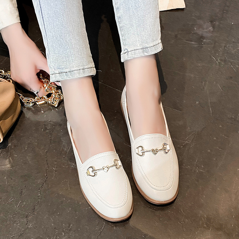 Brand Flats Women Loafers 2020 Spring Autumn Ladies Metal Decoration Fashion Female Flat Loafer Shoes For Women 932655