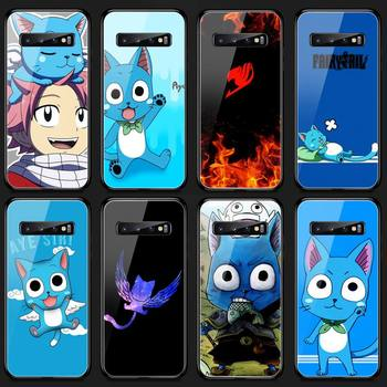 Riccu Happy Felice Fairy Tail Phone Case Tempered Glass For Samsung S20 Plus S7 S8 S9 S10E Plus Note 8 9 10 Plus A7 2018 image