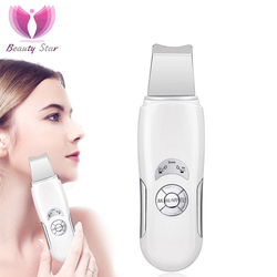 Beleza estrela ultra sônica rosto limpeza purificador da pele facial massagem máquina anion pele profundamente limpeza peeling face lift purificador