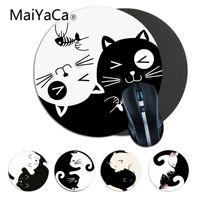 MaiYaCa carino Yin Yang gatto bianco e nero PC Computer Gaming mousepad anime Mouse pad Tappetini Per PC Del Computer Portatile Notebook gamer scrivania pad
