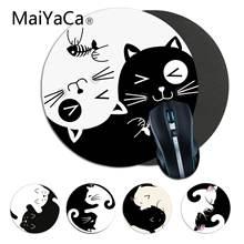 Черно белый коврик для мыши maiyaca cute yin yang cat ПК игровой