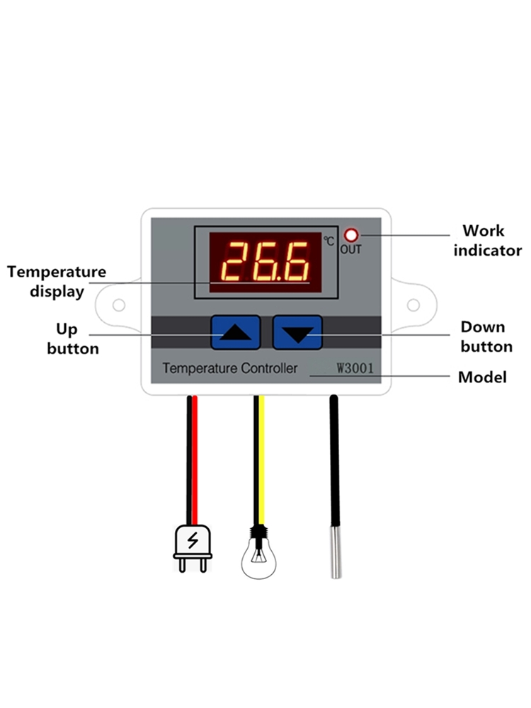 Switch-Thermometer Thermoregulator Digital-Control Temperature-Microcomputer W3001 12/24/220v