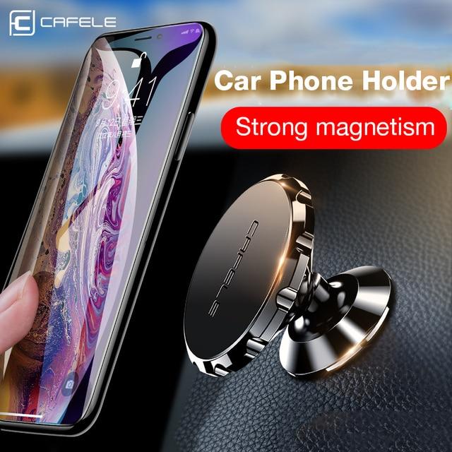 CAFELE soporte magnético de teléfono de coche para teléfono móvil, soporte Universal para teléfono móvil, imán de teléfono móvil, aleación de aluminio