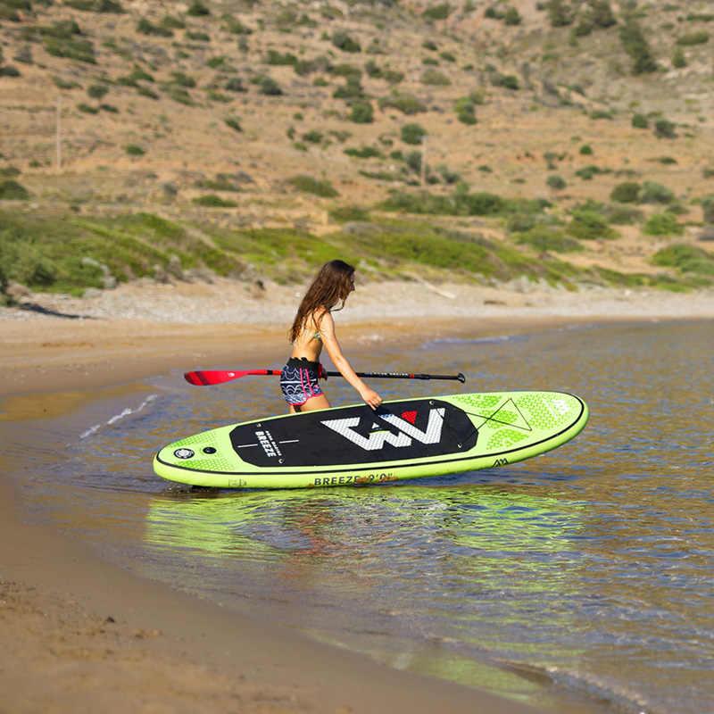 Prancha de surf 275*76*12cm aqua marina brisa inflável sup levante-se pá de pesca caiaque barco perna trela assento dobrável dinghy