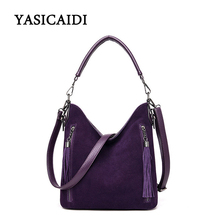2019 Hot Sale Handbags The Newest Fashion Solid  Women Trending Cross Body Bag Tassel Suede Fringe Messenger Shoulder Handbag US