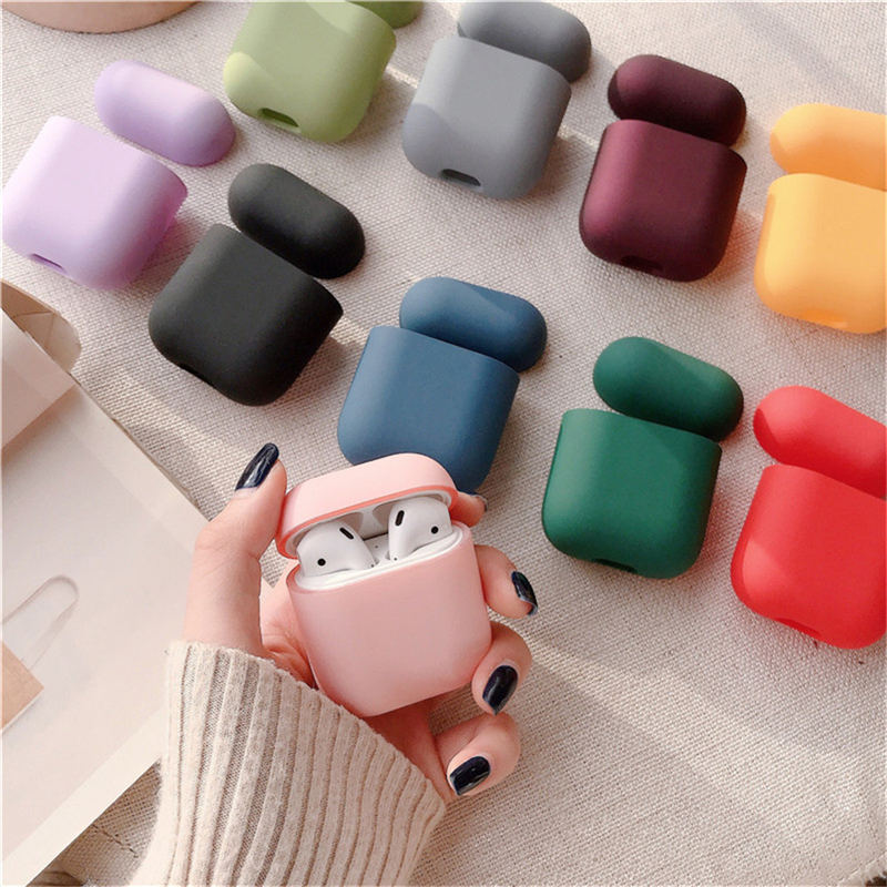 Original For Apple Airpods 1/2 Wireless Bluetooth Earphone Case For Apple AirPods New PC Hard Cute Cover Protective Box Case