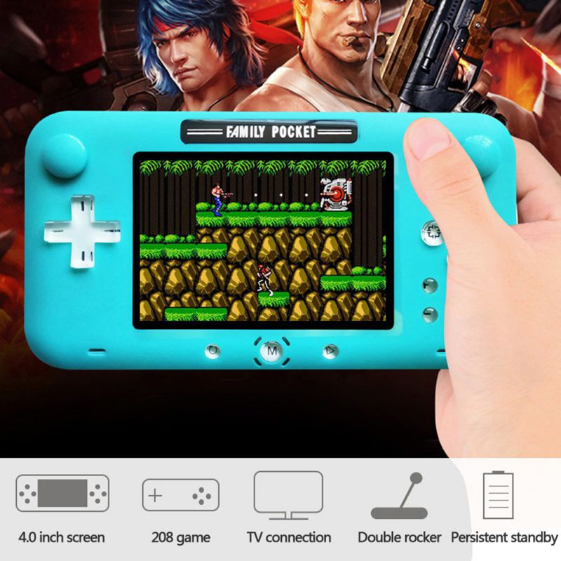4 Inch Soft Big Screen Retro Handheld Game Console Portable Video Game Player For Nes Games Rechargeable Green White Black