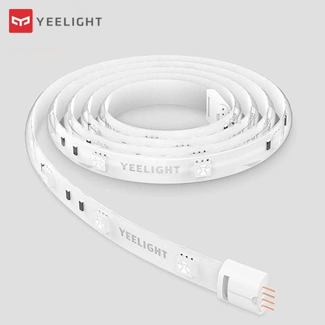 شريط الإضاءة الذكية Yeelight 1 متر قابل للتمديد أضواء LED ملونة RGB تعمل مع أليكسا جوجل مساعد أتمتة المنزل الذكي