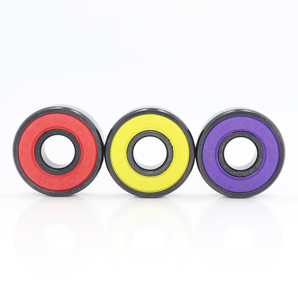 Wheel-Bearing Skateboard Inline-Roller 608 2rs ABEC9 Red Sealed-8x22x7-Mm-Shaft 16pcs