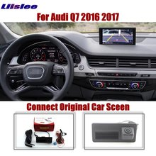 Liislee Car For Audi Q7 2016 2017 Original Screen Upgrade Reverse Dynamic Trajectory Image Rear Parking Camera Trunk Handle CAM